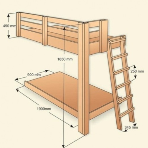 Лестница на двухъярусную кровать