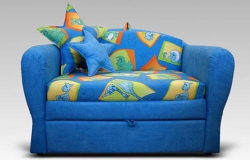 Синий детский диван