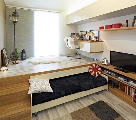 Скрытая кровать подиум