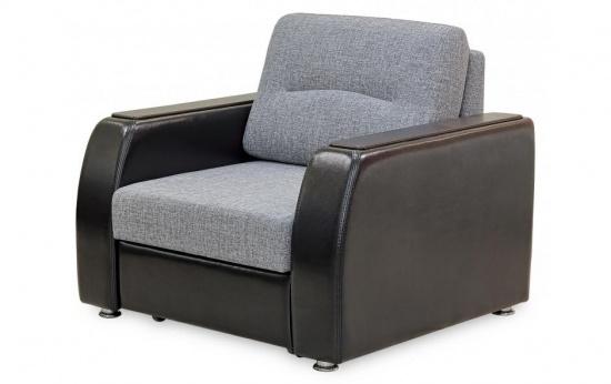 Сочетание нескольких видов обивки в кресло кровати