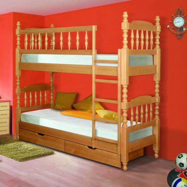 Составная детская двухъярусная кровать