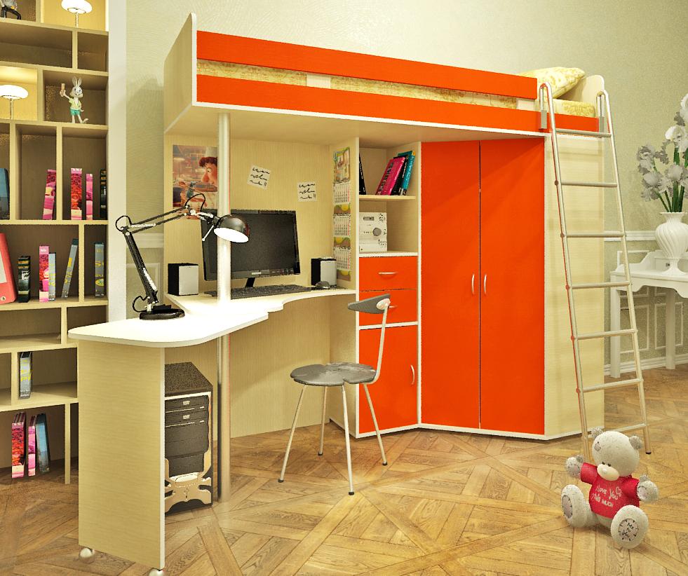 Спальное место и рабочая зона