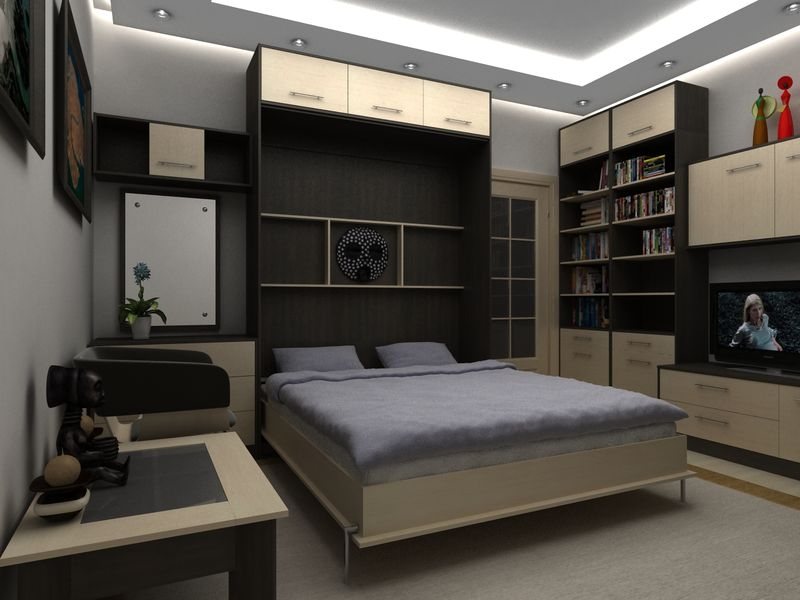 Спальня со шкафом кроватью