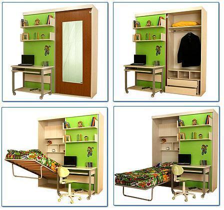 Стильная трансформирующаяся мебель для малогабаритных квартир
