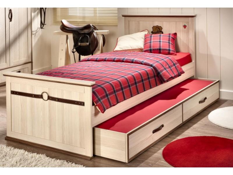 Такая кровать с выдвижным спальным местом является безопасной для маленьких детей