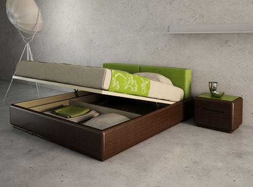 Удобная кровать с механизмом подъема