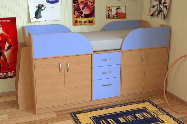 Удобное спальное место с системой хранения