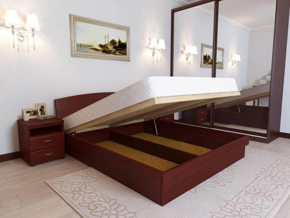 Вместительность и функциональность кровати с подъемным механизмом