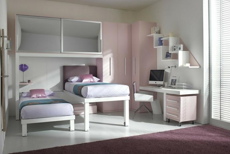 Выдвижная мебель для детской комнаты на двоих детей