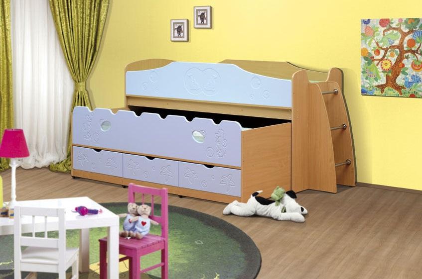 Выкатная кровать из МДФ