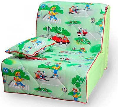 Яркое детское кресло кровать