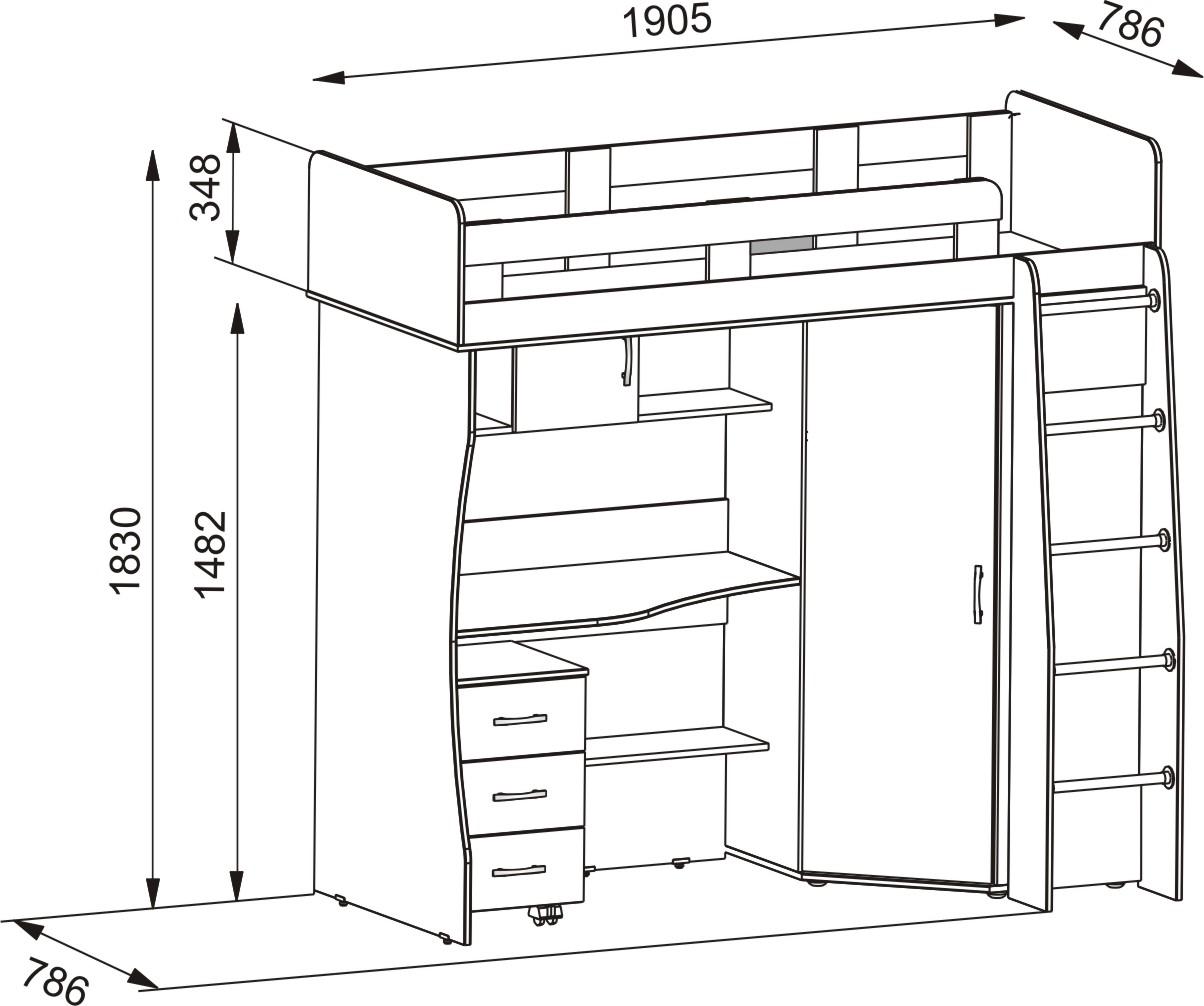 Мебель своими руками из дсп с чертежами 265