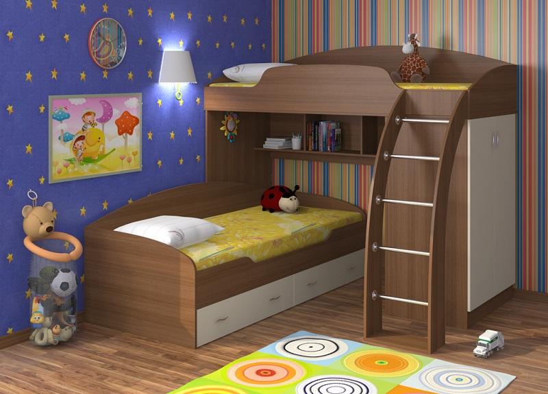 Угловая кровать для двоих