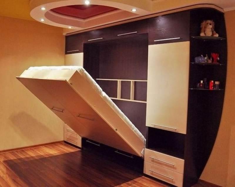 Украшение интерьера вертикальная кровать