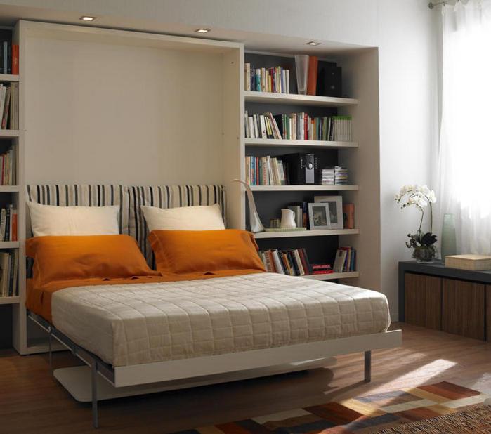 Двуспальный трансформер для маленькой спальни