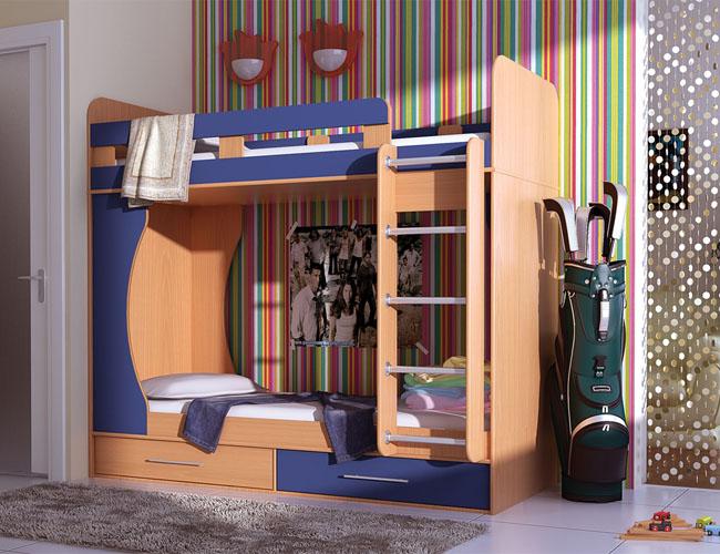 Модель кровати с ящиками