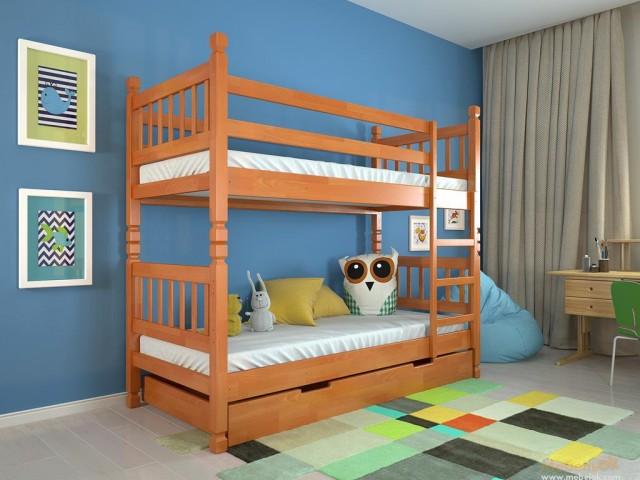 Высокая двухъярусная кровать