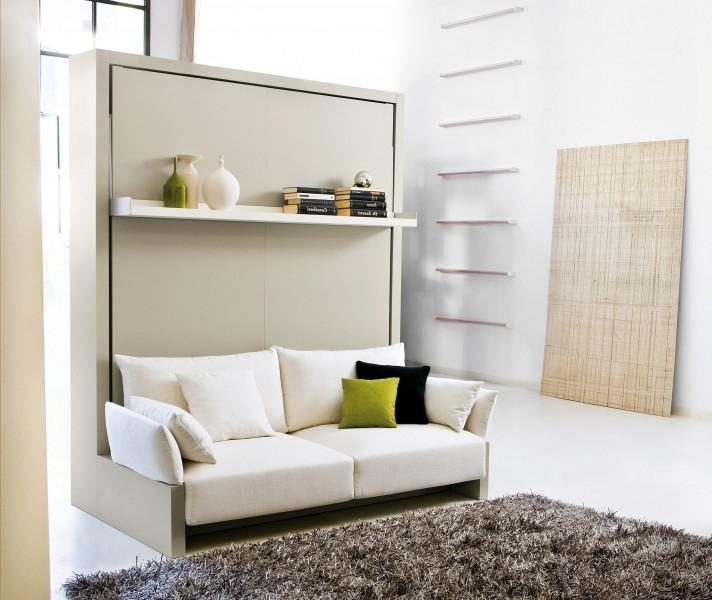 Украшение гостиной диваном кроватью