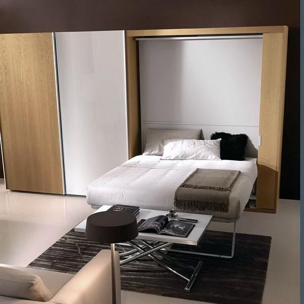 Кровать со шкафом в разобранном виде