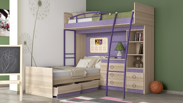 Модель с перпендикулярным расположением кроватей