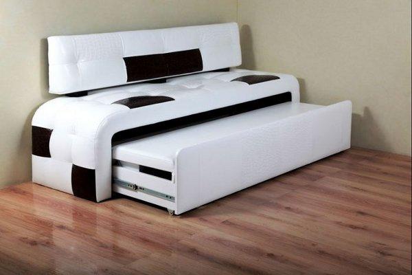 Бело-черный диван в кухню