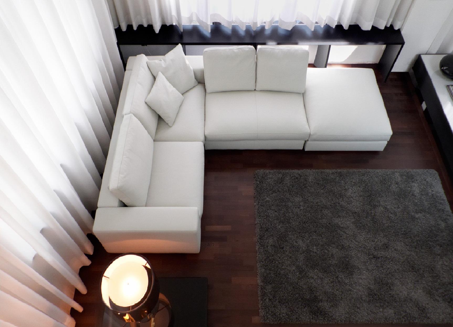 Белый модульный диван