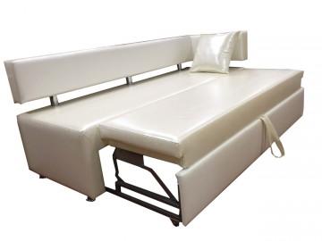 Белый раскладной диван