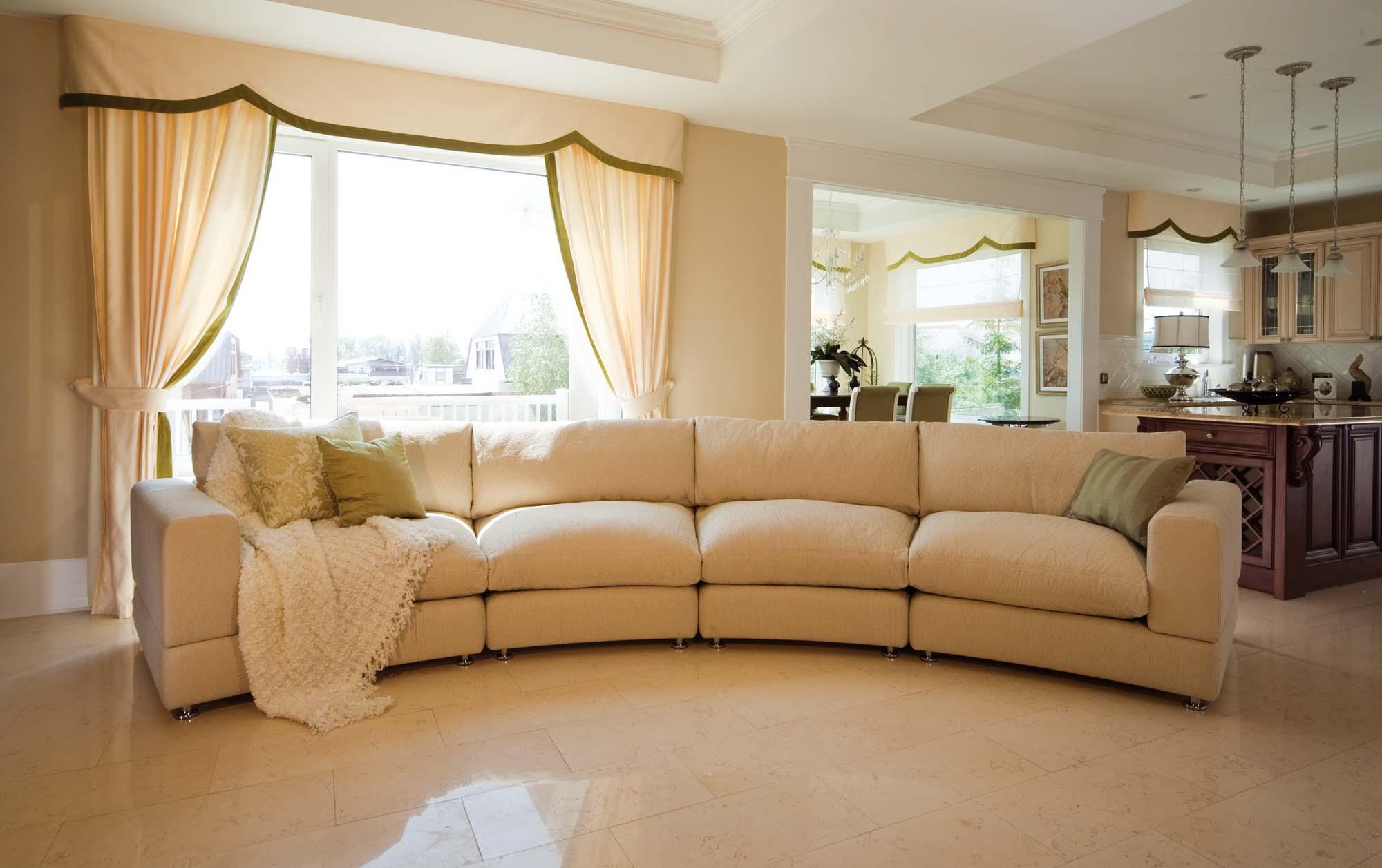 Бежевый модульный диван