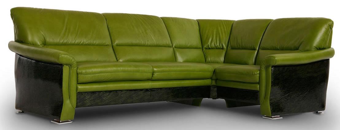 Черно-зеленый диван