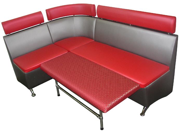 Красно-черный диван