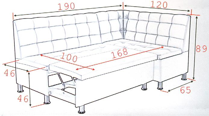 Угловой диван со спальным местом своими руками