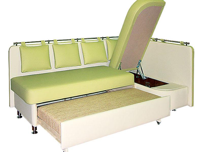 Кухня компактный угловой диван со спальный местом