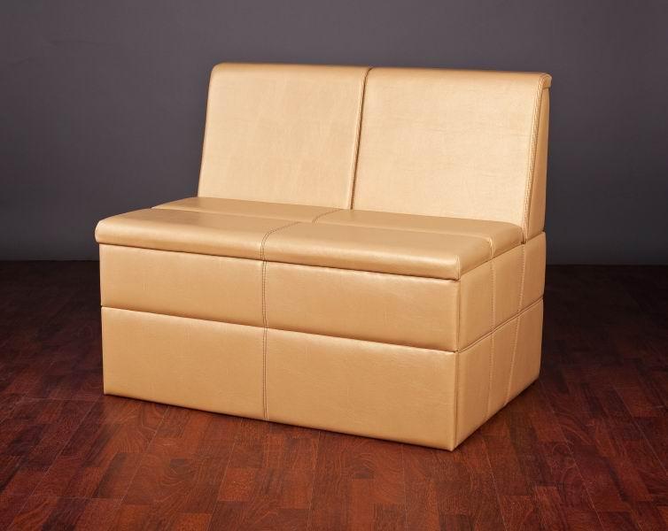 Мини диван из кожзама