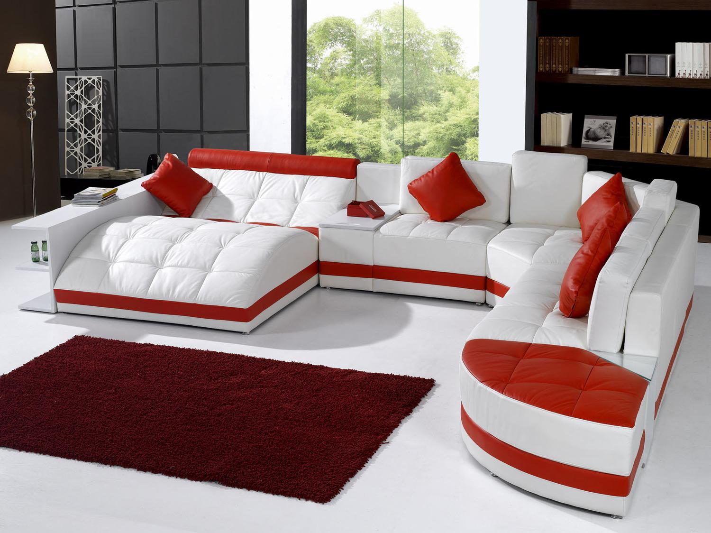 Модульные диваны для гостиной со спальным местом - угловые, кожаные
