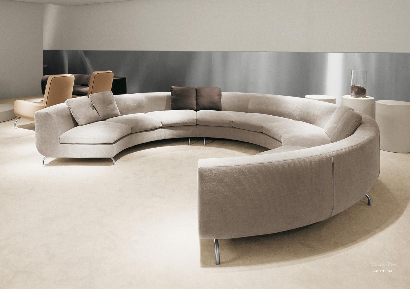 Модульный диван полукруглый