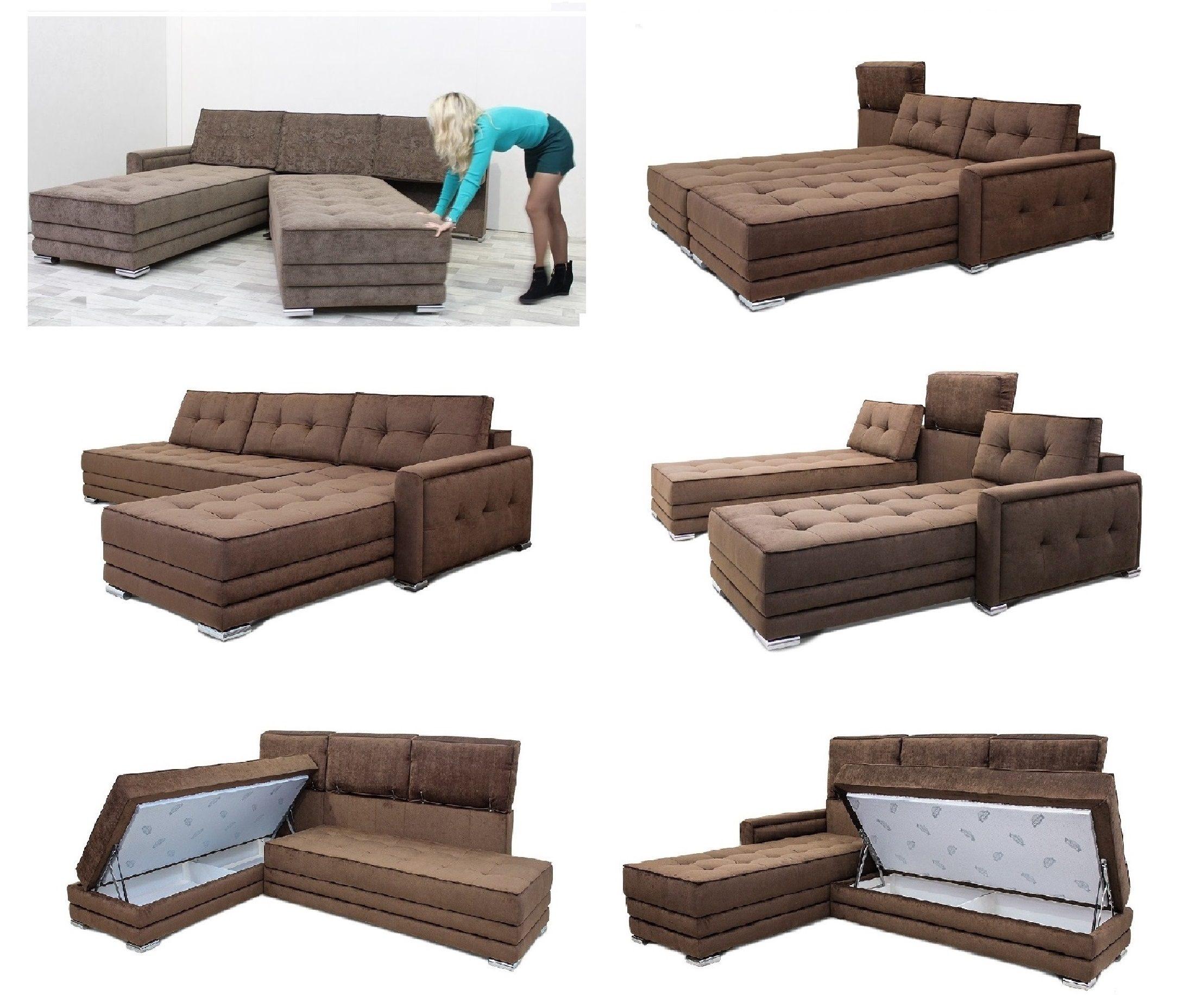 Модульный диван с поворотным модулем
