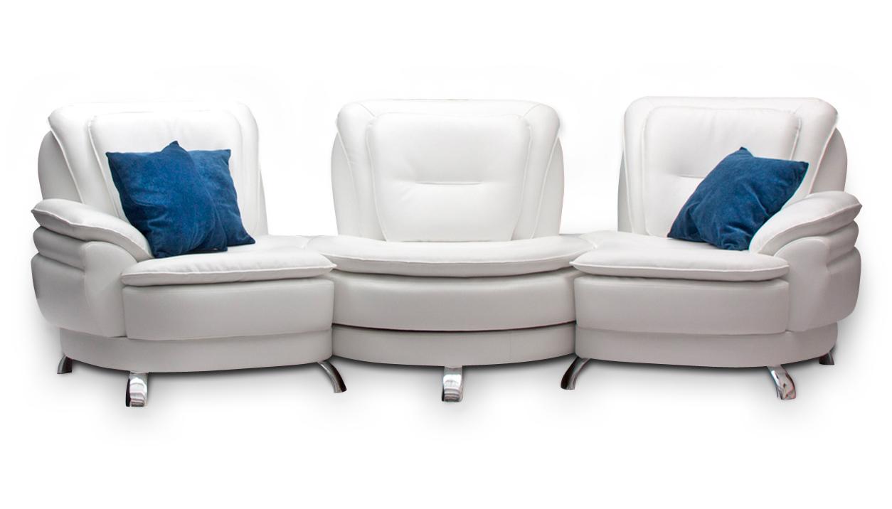 Модульный диван в белом цвете