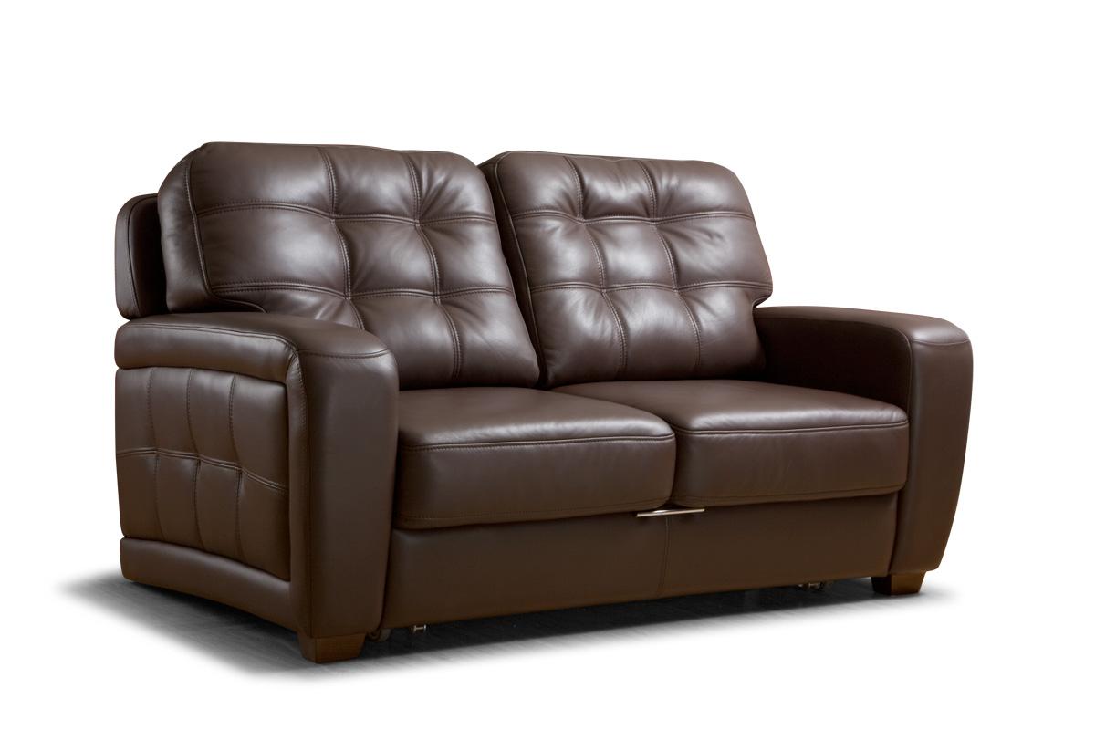 Небольшой кожаный диван