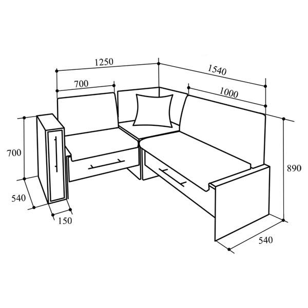 Небольшой кухонный диванчик