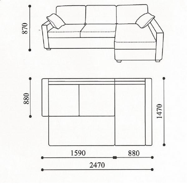 Небольшой угловой диван