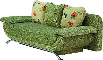 Небольшой зеленый диванчик