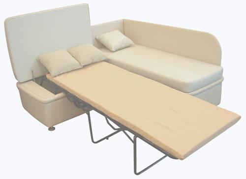 Просторный раскладной диван