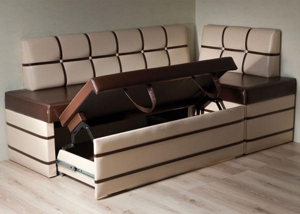 Раскладной диван с ящиком для белья
