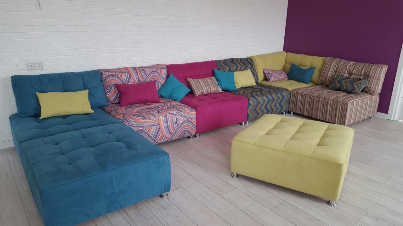 Разноцветный модульный диван
