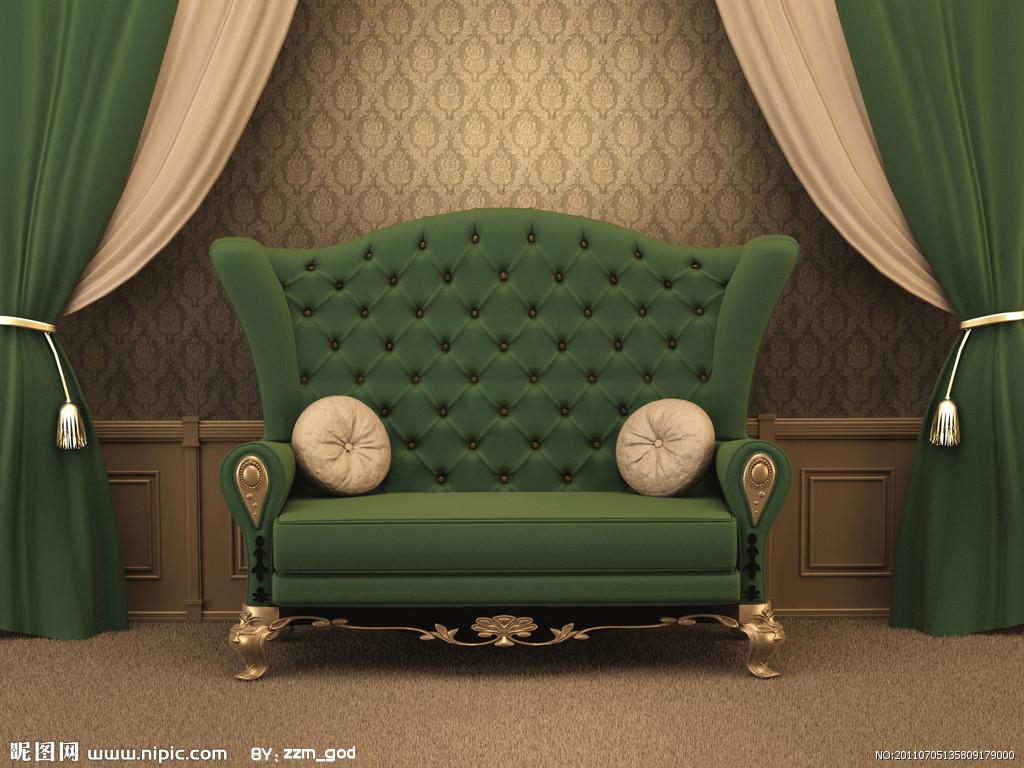 Софа зеленая