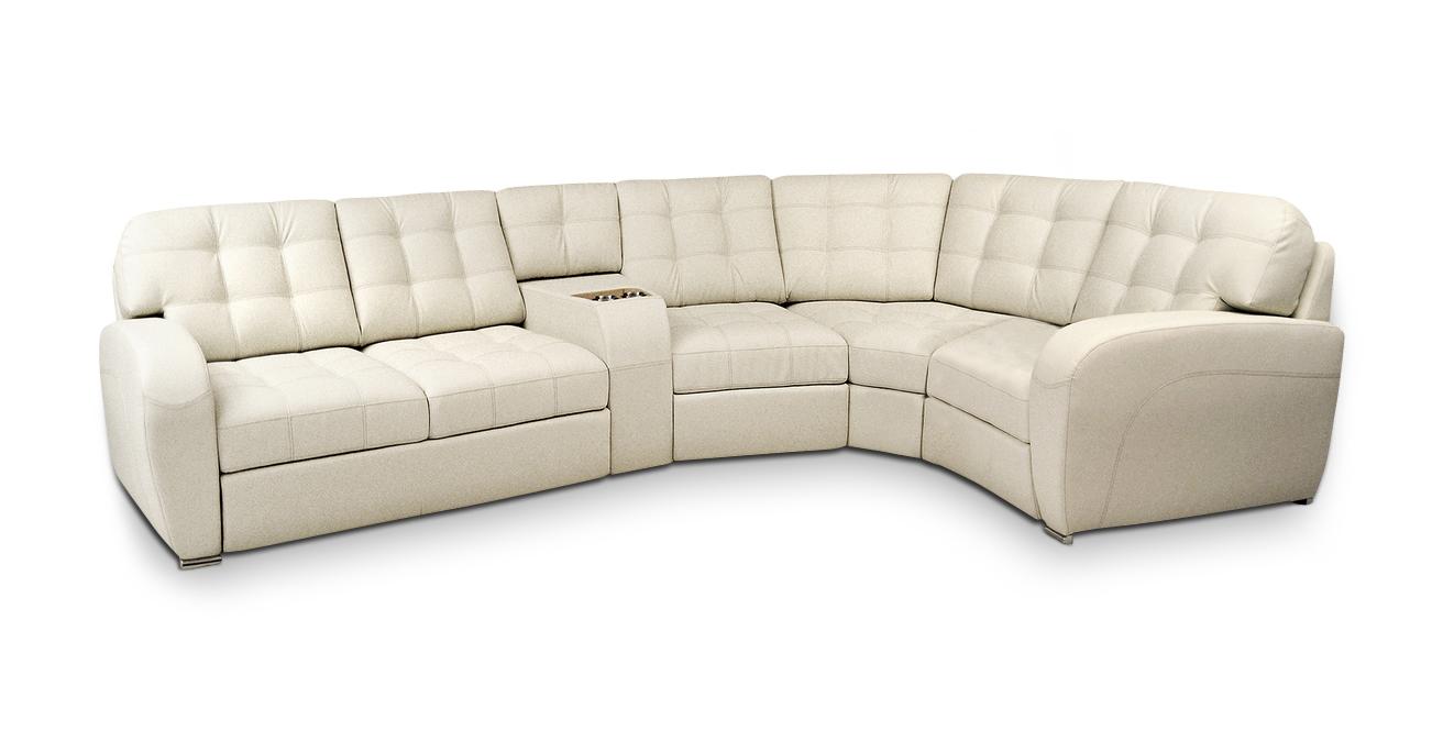 Стильный белый диван в гостиную