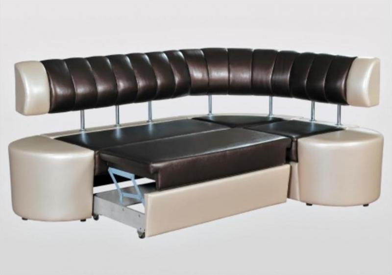 Стильный диван со спальным местом