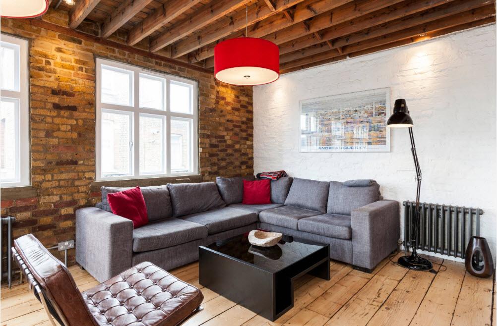 Угловое расположение дивана