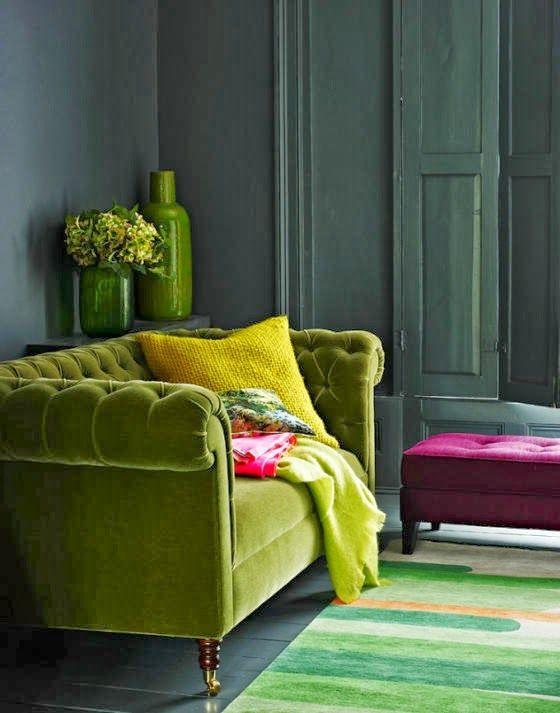 Зеленый диванчик