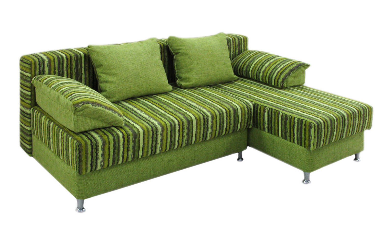 Зеленый угловой диван